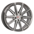 1000 Miglia MM1007 7,5x17 5x112 ET45 66,6 Silver Gloss Polished