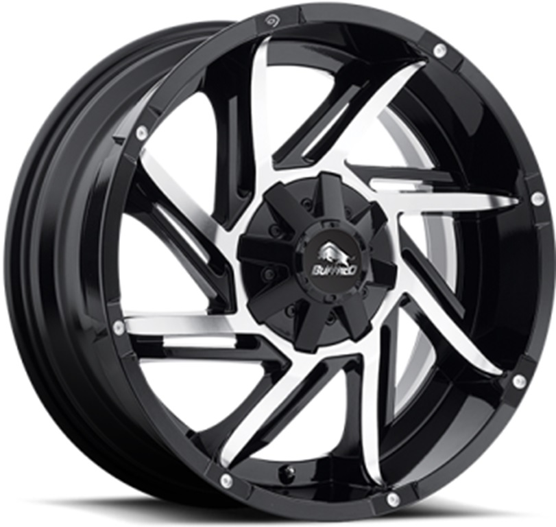 Легковой диск Buffalo BW-422 9x17 8x170 ET-12 125,2 Gloss Black Machined Face